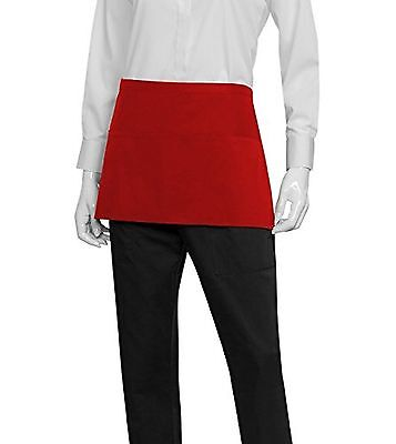 Chef Works Waist Server Apron (F9) Red New