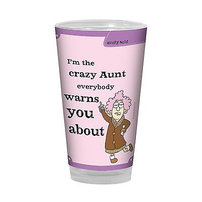 Tree-Free Greetings PG02763 Aunty Acid Artful Alehouse Pint Glass 16-Ounc... New