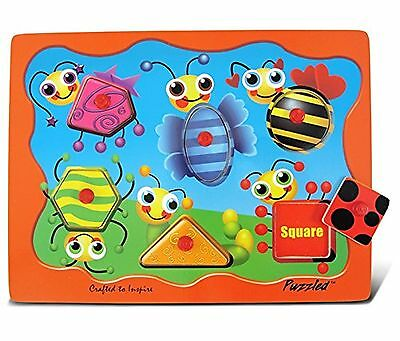 Puzzled Insects Shapes Peg Puzzle New