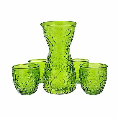French Home 5 Piece Drink Set Willow Green New