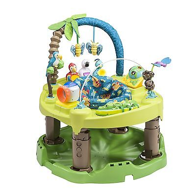Exersaucer Triple Fun Life in The Amazon Blue/Green/Brown New