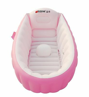 Baby Infant Travel Inflatable Non Slip Bathing Tub Bathtub (Pink) Pink New