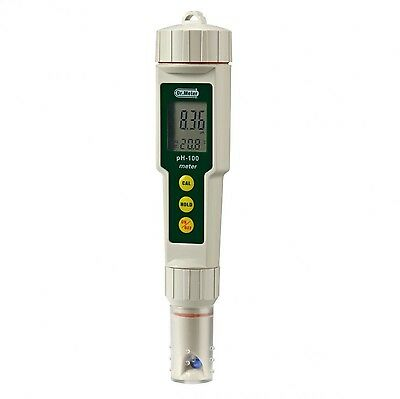 Dr. Meter PH100 0.01 Resolution High Accuracy Pocket Size pH Meter with A... New