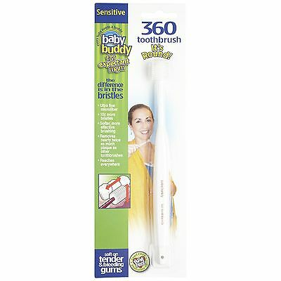 Baby Buddy 360 Toothbrush Sensitive for Expectant Moms White 1 count New