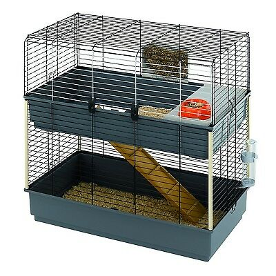 Ferplast CAGE RABBIT 100 DOUBLE Rabbit Cage Structure on Two Floors 38 98... New