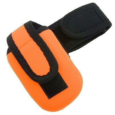 Intrepid International Cell Phone Holder Neon Orange One Size Fits All New