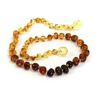 Momma Goose Amber Teething Necklace Rainbow Baroque Small New