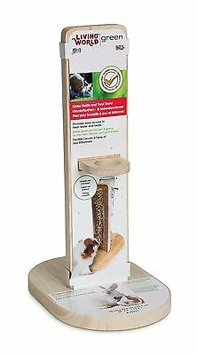 Living World Green Water Bottle and Treat Stand Medium 15cm X 22.5cm X 33... New