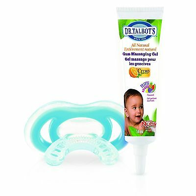 Nuby Citroganix Gum Massaging Gel with Gum-eez Teether - Blue New