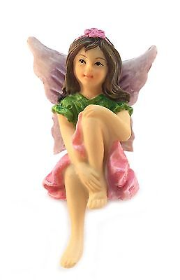 Emma the Sitting Garden Fairy  a Miniature Fairy Statue for Your Fairy Ga... New