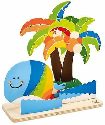Hape Paint it Yourself Tropical Island Kid's Wooden Arts and Craft Kit New