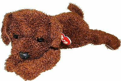 TY Classic Plush - FLOPPER the Brown Dog by Ty New