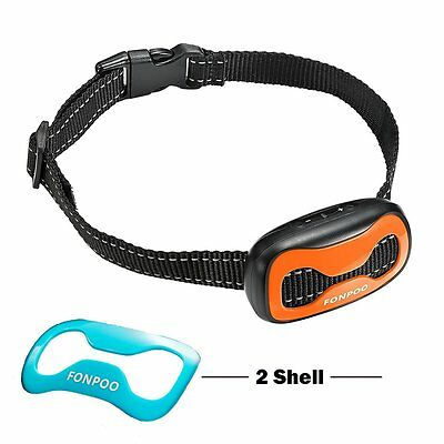 FONPOO FP-681V Dog No Bark Collar Electric Anti Bark Shock Control with A... New