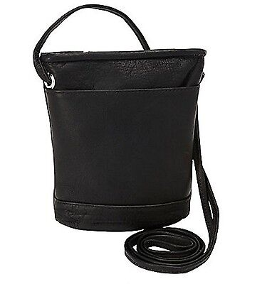 David King & Co. Top Zip Mini Bag 512 Black One Size New