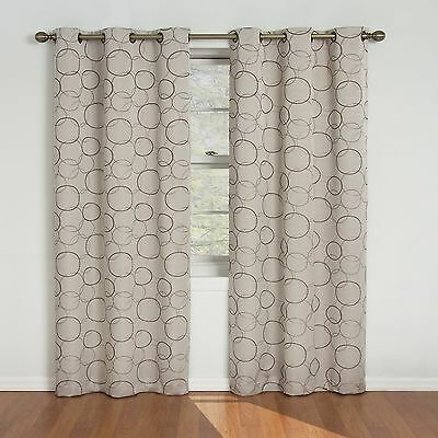 Eclipse 42-Inch by 84-Inch Meridian Blackout Grommet Window Panel Linen New