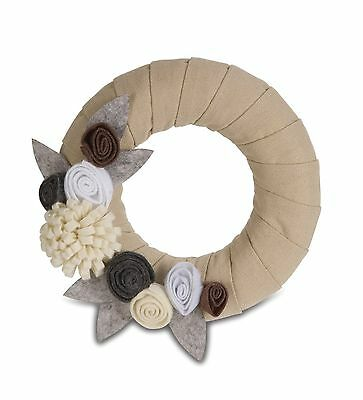 Pavilion Gift 89001 Signs of Happiness Rustic Neutral Wreath 6-Inch New