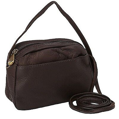 David King & Co. Top Zip Mini Bag 517 Caf One Size Café New