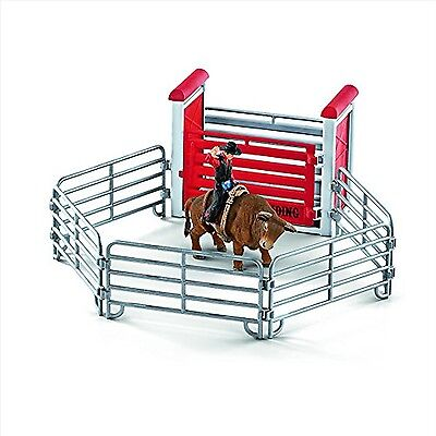 Schleich 41419 Bull Riding with Cowboy Toy Figure New