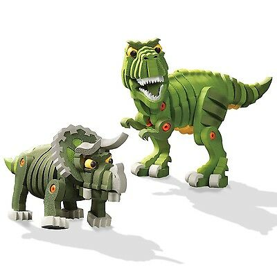 Bloco Toys T-Rex and Triceratops Standard Packaging New
