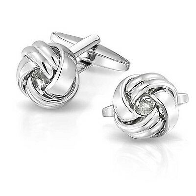 Bling Jewelry High Polished Mens Pair Love Knot Cufflinks Stainless Steel... New