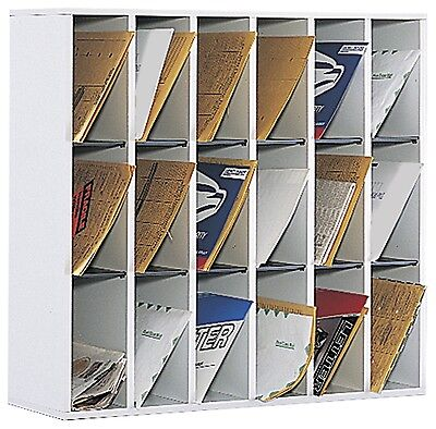 Safco Products 18 Compartment Mail Sorter Gray 7765GR New