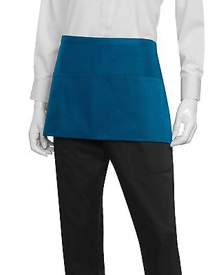 Chef Works Waist Server Apron (F9) Blue New