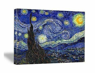 Wieco Art - Starry Night by Van Gogh Famous Oil Paintings Reproduction Mo... New