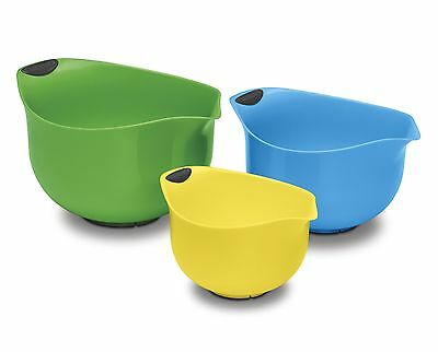 Cuisinart CTG-00-3MBMC Multi Coloured Bowls Set of 3 GREEN/BLUE/YELLOW New