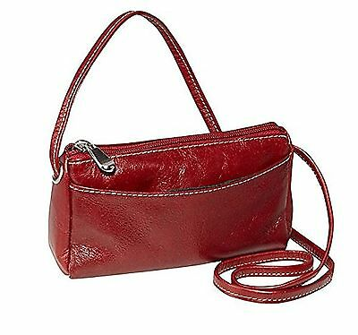 David King Florentine Top Zip Mini Bag 3501 Cherry Red One Size New