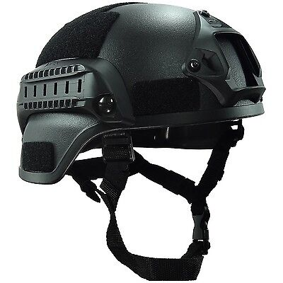 OneTigris MICH 2000 Style ACH Tactical Helmet with NVG Mount and Side Rai... New