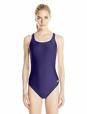 Speedo Women's Race Xtra Life Lycra Solid Super Pro Swimsuit Navy 32 New