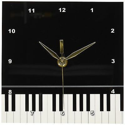 3dRose Black piano edge - baby grand keyboard music design for pianist mu... New