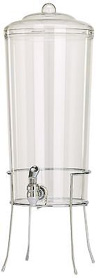 Buddeez Unbreakable Tritan Chilled Beverage Server with Chromed Wire Base... New
