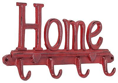 "Abbott 27-Iron Age/271 Collection Antique Red ""Home"" Wall Hook New"