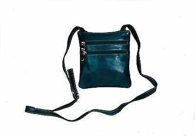 David King Florentine 3 Zip Cross Body Bag 3734 Red Blue One Size New