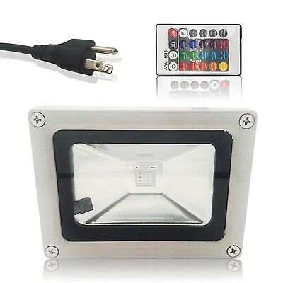 Susay Remote Control 10W RGB Waterproof LED Flood Light (16 Different Col... New