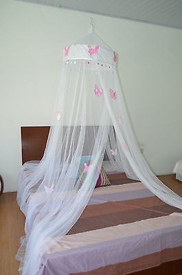 Butterfly Bed Canopy Mosquito NET Crib Twin Full Queen King (White) White New