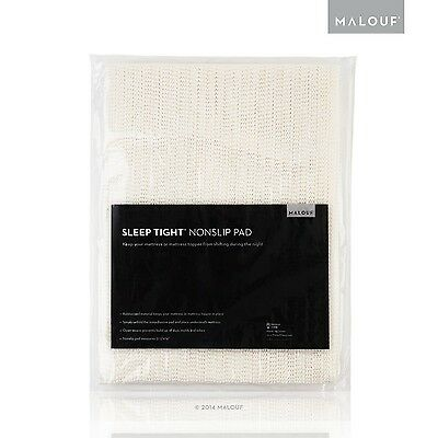 MALOUF Sleep Tight Queen Size Non-Slip Mattress Grip Pad Rug Pad for 5-Fe... New