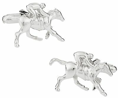 Cuff-Daddy Horseracing Cufflinks with Jockey and Horse New