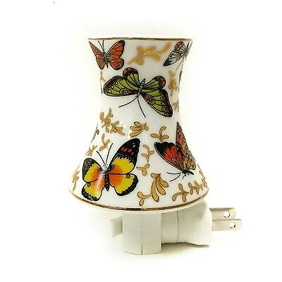 Adeline or Dreamerz NL398 Butterfly Print on Lampshade Night Light New