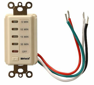 Woods 59720 30-Minute Automatic Wall Switch Timer (Light Almond) New