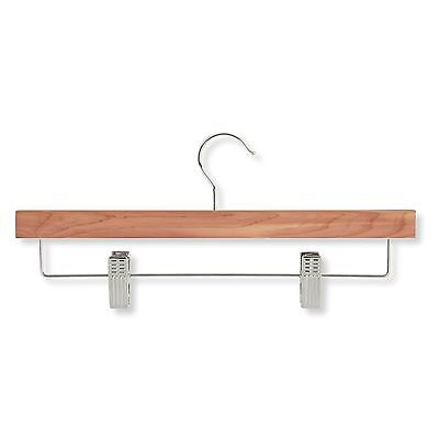 Honey-Can-Do HNG-01535 Skirt/Pant Hanger with Clips Cedar 4-Pack New