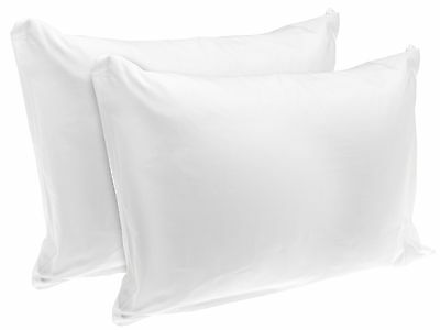 Rest Right 100% Cotton Zippered Pillow Protector Set of 2 Standard New