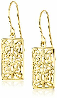 Celtic Drop Earrings gold-plated-silver New