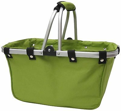 JanetBasket NB007-L Art Supply Totes and Carrier Bags Lime Large Aluminum... New