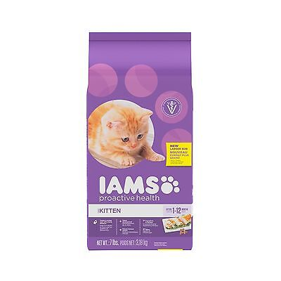 Iams Proactive Health Premium Dry Kitten Food 3.18 kg New