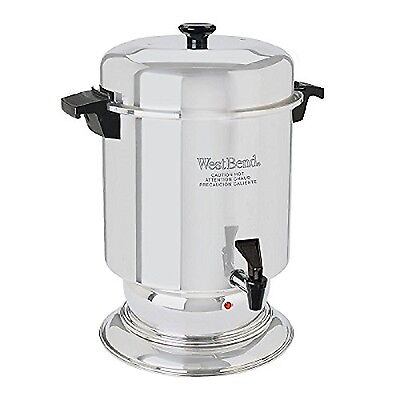 West Bend 55 Cup Commercial Stainless Steel Coffeemaker Silver New
