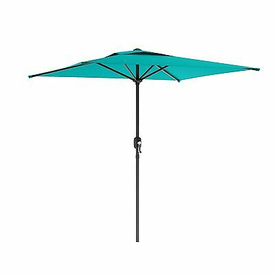 CorLiving PPU-360-U Square Patio Umbrella in Turquoise Blue New