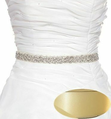 QueenDream Bridal Pearl Sash Wedding Belt Bridal Belt Sash Belt Crystal R... New