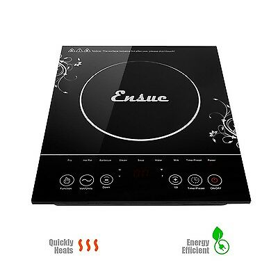 Ensue 1500w Portable Induction Cooker Cooktop Countertop Burner Black New